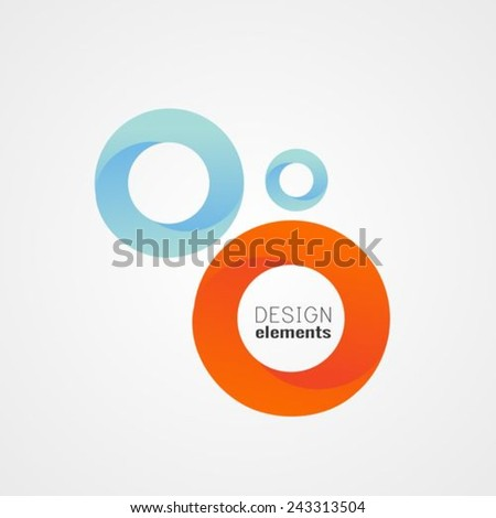 Circles design elements - stock vector