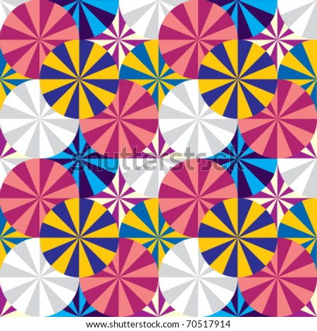 Circles geometric seamless pattern. Vector background. - stock vector