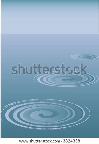 Circles on water. Background.