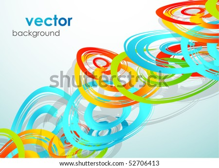 Circles. Vector abstract background