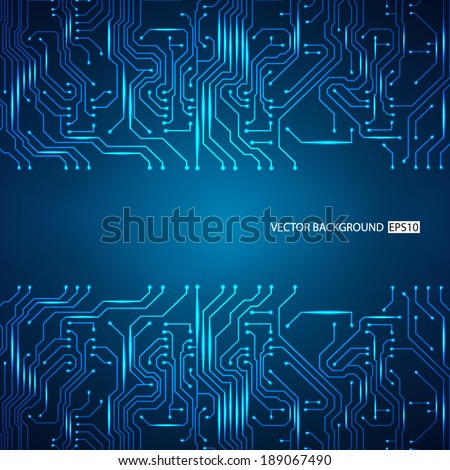 Circuit board background. EPS10 vector - stock vector
