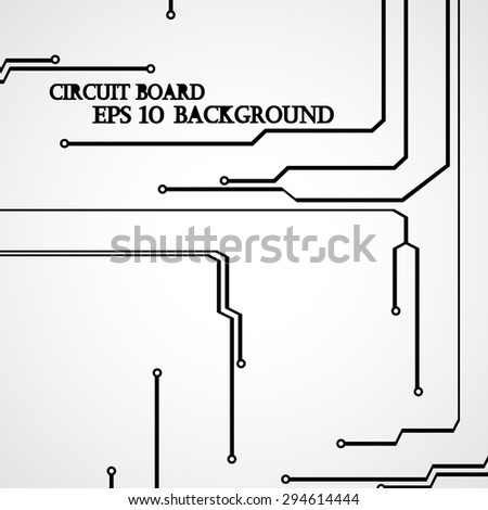 Circuit board background modern digital Illustration. - stock vector