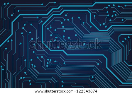 circuit board background texture. 10eps - stock vector