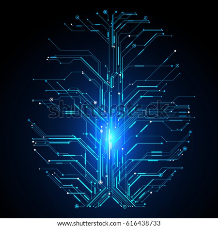 Circuit Board Composed Brain Graphics Stock Vector HD (Royalty Free ...