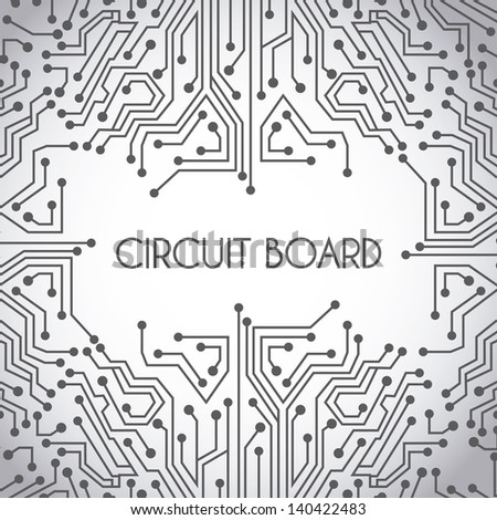 Circuit Board Design Over Gray Background Stock Vector HD (Royalty ...