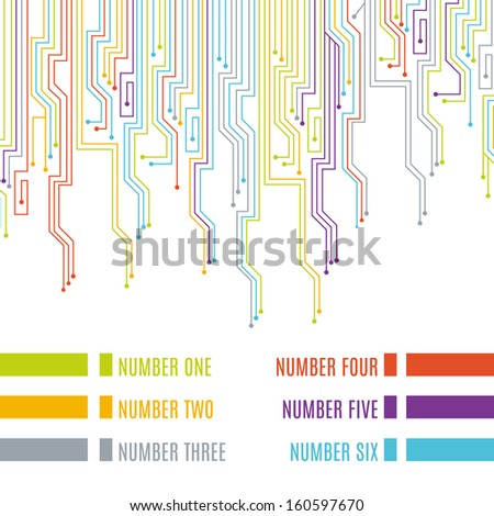 Circuit board design. Vector illustration. - stock vector