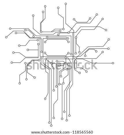 circuit board Digital background - stock vector