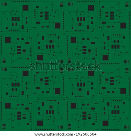circuit board, motherboard vector illustration. - stock vector