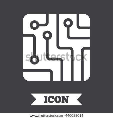 Circuit Board Sign Icon Technology Scheme Stock Vector 440058016 ...