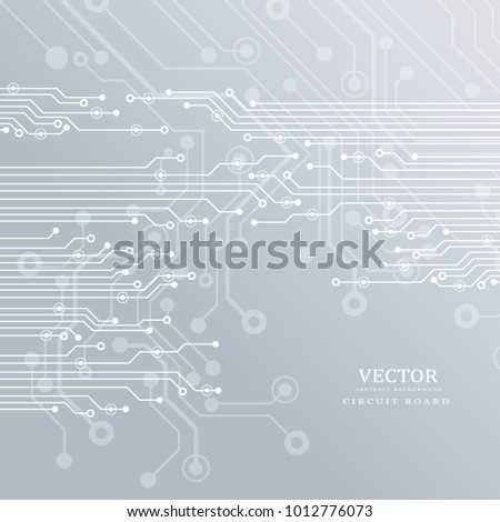Circuit board, technology background. Vector illustration.