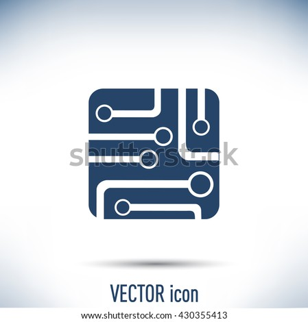 Circuit Board Technology Icon Vector Illustration Stock Vector (2018 ...