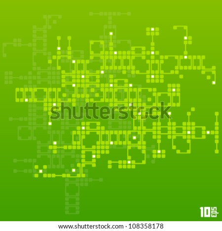 circuit board vector - stock vector