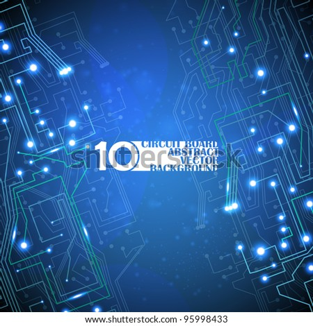 circuit board vector background, technology illustration eps10 - stock vector