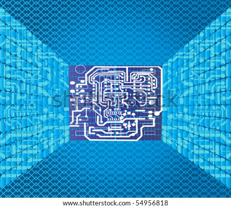 circuit boards - stock vector