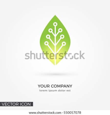 Circuit Leaf , VECTOR LOGO / ICON