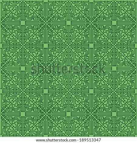 Circuit seamless vector pattern