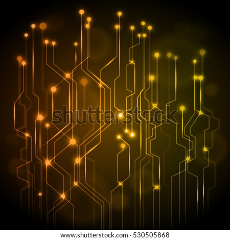 Circuit vector gold Science Technology.