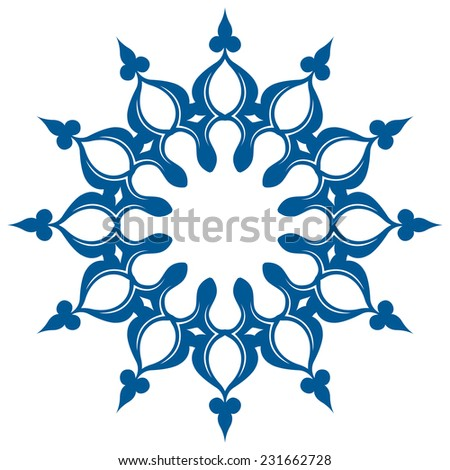 circular abstract decorative design element - stock vector