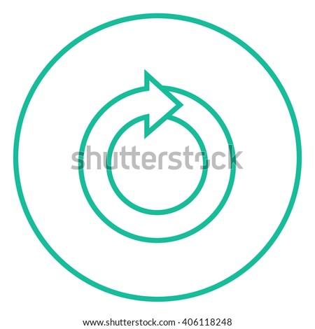Circular arrow line icon. - stock vector