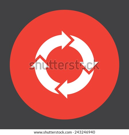 circular arrow sign icon