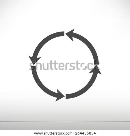 circular arrows vector  icon - stock vector