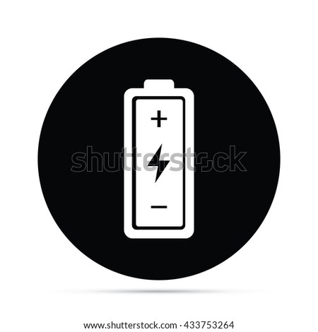 Circular Battery Icon - stock vector