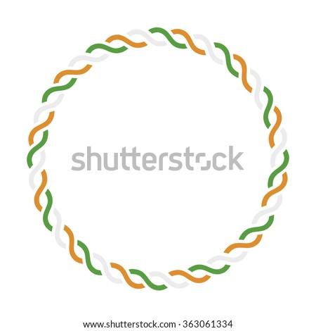 Circular border made with Indian flag colors. - stock vector