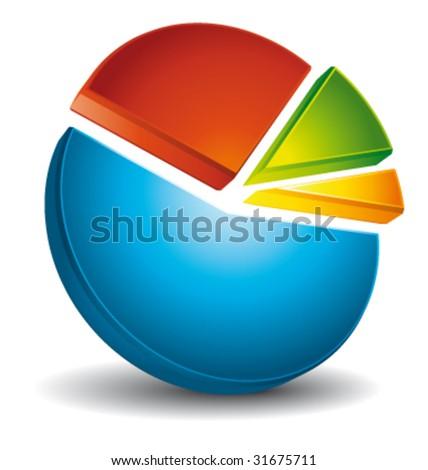 Circular diagram colorful vector - stock vector