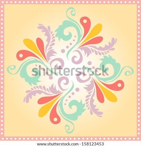 circular floral background pattern. vector illustration