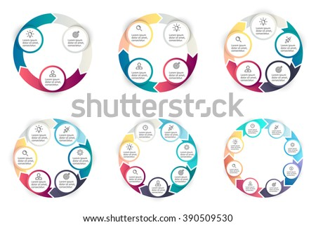 Wheel diagram stock images royalty free images vectors circular infographics step by step charts diagrams with arrows circular charts diagrams ccuart Images
