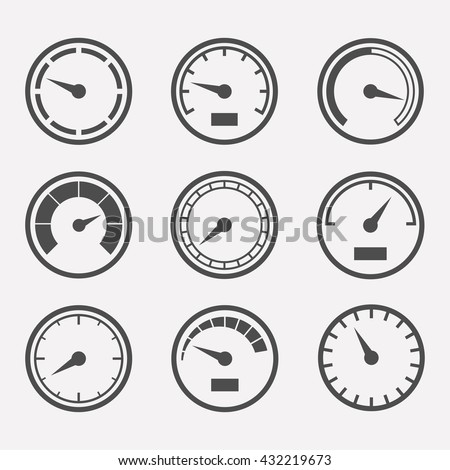 Circular Meter Icon Vector Set Collection Stock Vector 432219673 ...