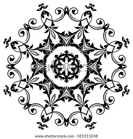 circular ornament - stock vector