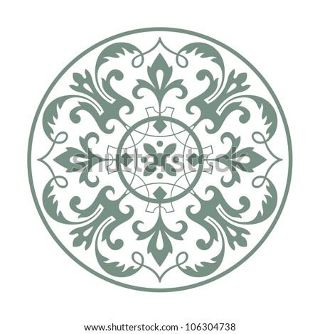 Circular ornament vector design - stock vector