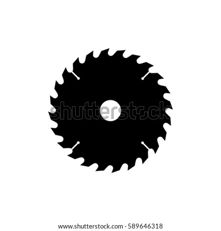 Wood saw stock images royalty free images vectors - Disco de sierra circular ...