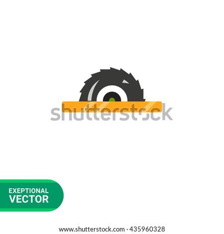 Circular saw icon - stock vector