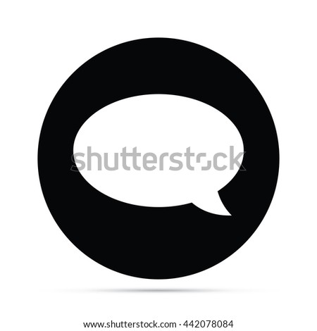 Circular Speech Balloon Icon - stock vector