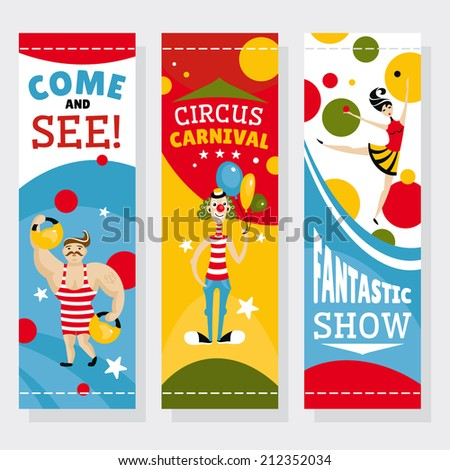 Circus banners vector illustration - stock vector