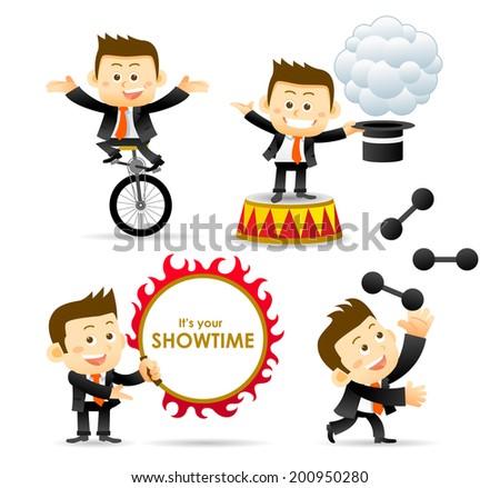 Circus Businessman - stock vector