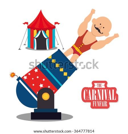 Circus carnival funfair  - stock vector