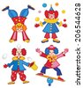 circus clown (vector illustration) - stock