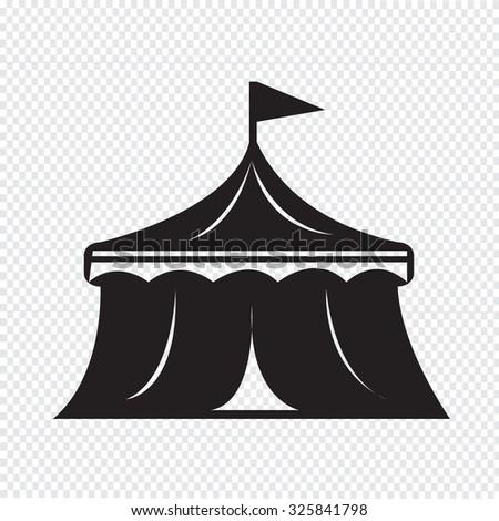 circus icon - stock vector