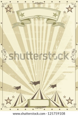 Circus kraft background.  a circus vintage poster for your advertising