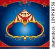 Circus magic leaflet. A circus leaflet for the announcement of your show. - stock photo