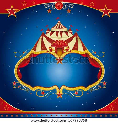 Circus magic leaflet. A circus leaflet for the announcement of your show. - stock vector