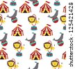 circus pattern design. vector illustration - stock photo