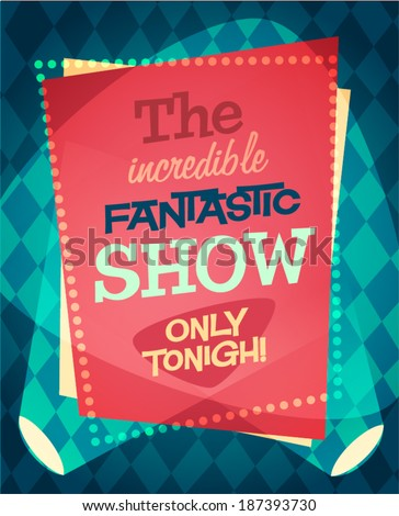 Circus show poster. Vector illustration. - stock vector