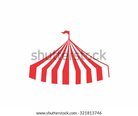 circus striped big top tent image icon  sc 1 st  Shutterstock & Circus Striped Big Top Tent Image Stock Vector 321813746 ...