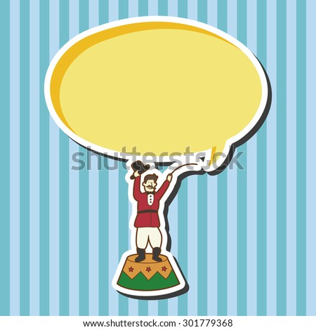 circus tamer theme elements vector,eps