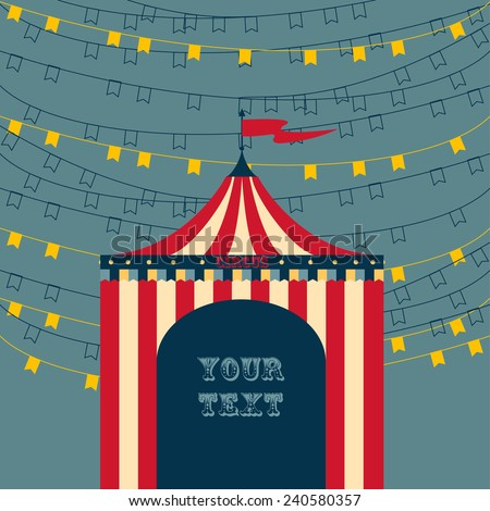 Circus tent advertisement template