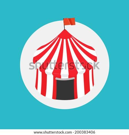 circus tent flat design  sc 1 st  Shutterstock & Circus Tent Flat Design Stock Vector 200383406 - Shutterstock